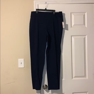 Navy blue straight leg, work pants